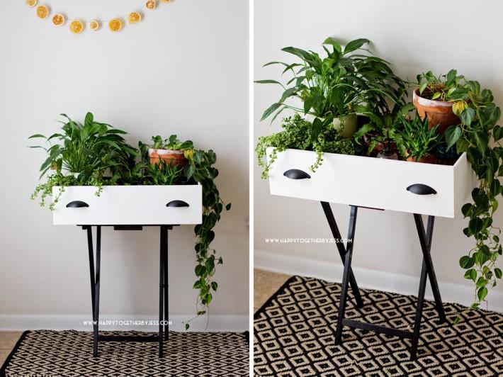 Upcycled tiroir usine stand bricolage |  heureux ensemble